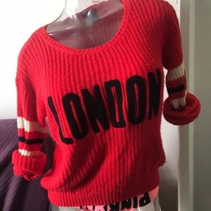Red LONDON sweater
